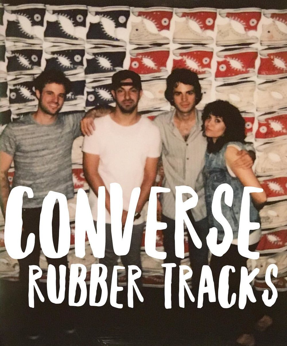 🤘 to @converse @rubbertracks for inviting us to rock out in their studio and @indabamusic for hooking it up 👟🎛🎸🔥