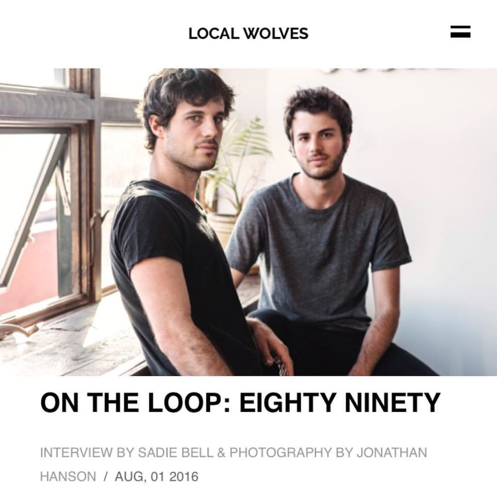 We talked with @localwolves about lonely nights, guitar tones, and our new EP Elizabeth ⚡️ localwolves.com/stories/on-the-loop-eighty-ninety ⚡️