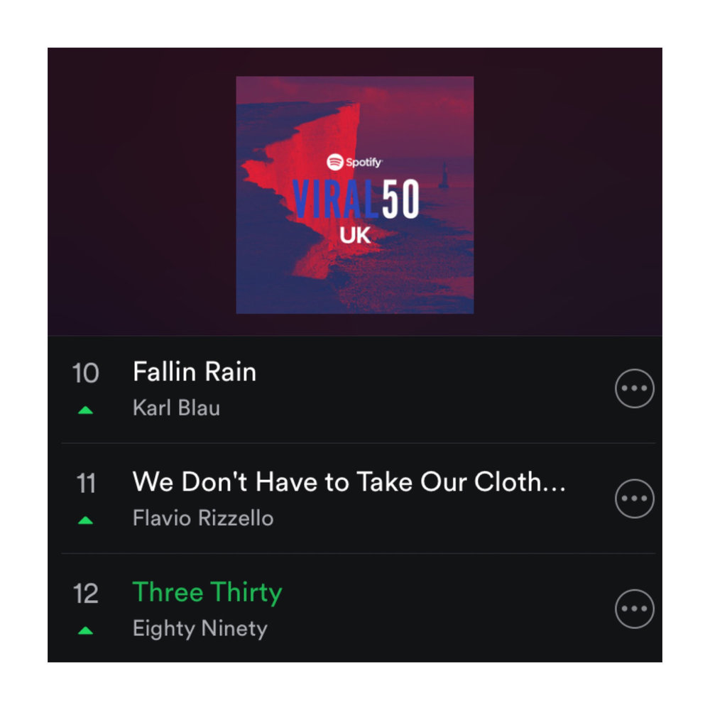 """""""Three Thirty"""" on its way to cracking the top ten in the UK!"""
