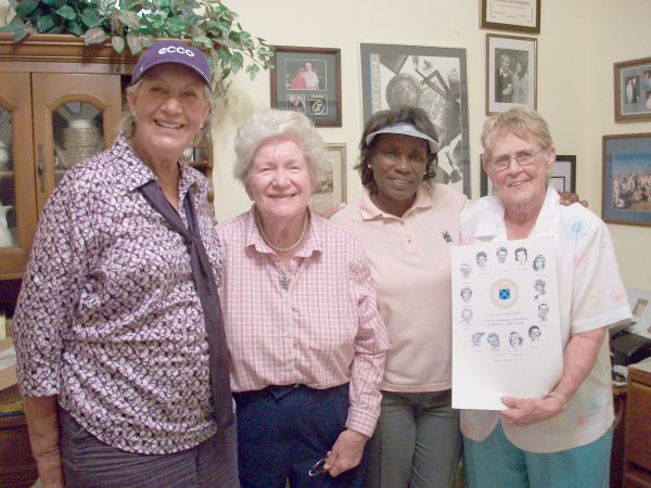 World Golf HOF inductee Carol Mann, LPGA Founders Marilynn Smith and LPGA Founders with Renee Powell.