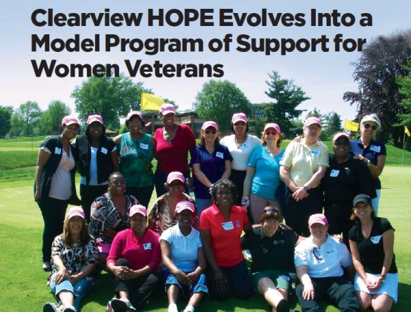 Clearview H.O.P.E women military veteran program members.