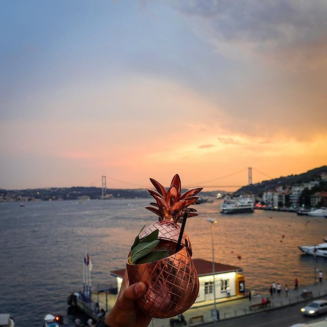 Sunset Sessions return to Alexandra tonight at 19:30 🍍🔊Come join us on our terrace and get down to the beats of @murathanozbek while the sun sets on the bosphorus🍸  #gangofalexandra #sunsetsessions