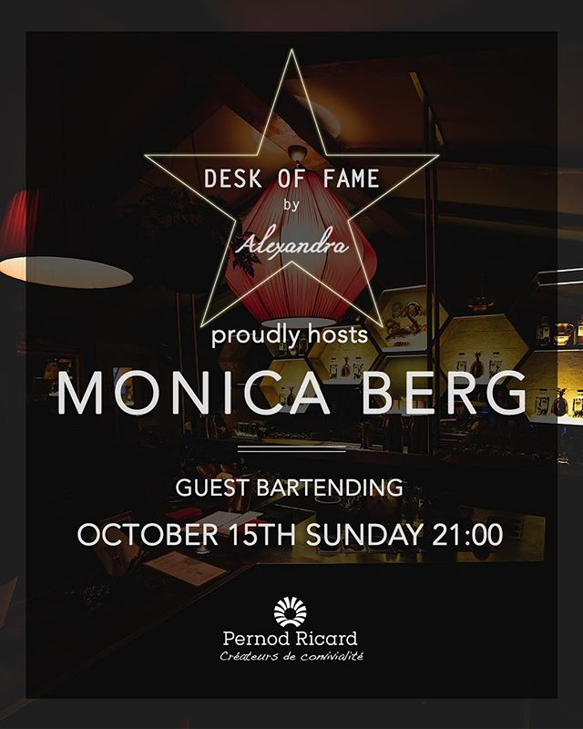 The one and only @monicasuh is discovering Istanbul and Turkish culture now! She will create a menu by her experiences and will be behind the bar on Sunday from 21:00 so there is one more reason to have long weekend come and see her while she rocking the bar  #deskoffame #gangofalexandra #alexandracocktailbar