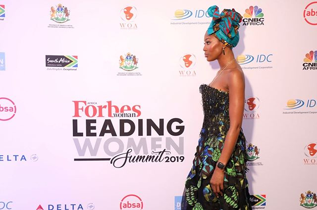 This morning @naomi gave a powerful keynote speech at the @forbeswomanafrica summit in Durban, South Africa.