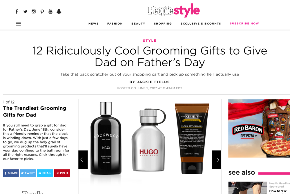 People.com: Cool Grooming Gifts for Dad