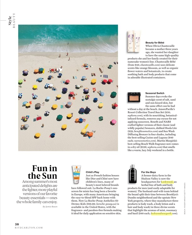 RITZ CARLTON MAGAZINE: Fun In The Sun