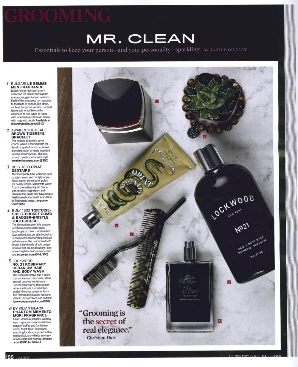 Robb Report: Mr Clean Essentials
