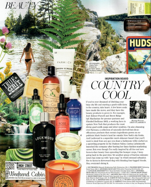 Marie Claire: Country Cool Beauty
