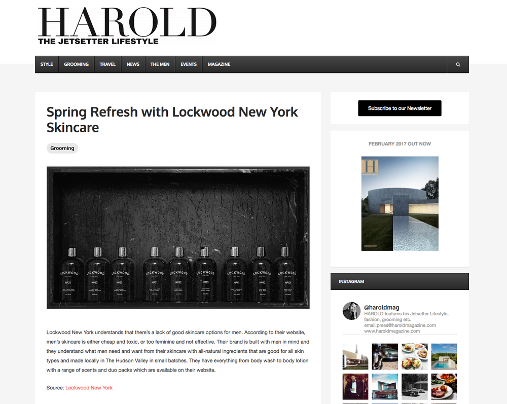 Harold Magazine: Spring Refresh With Lockwood New York