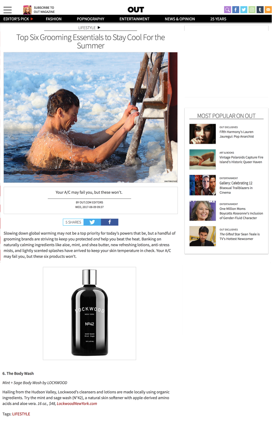Out Magazine: Six Grooming Essentials