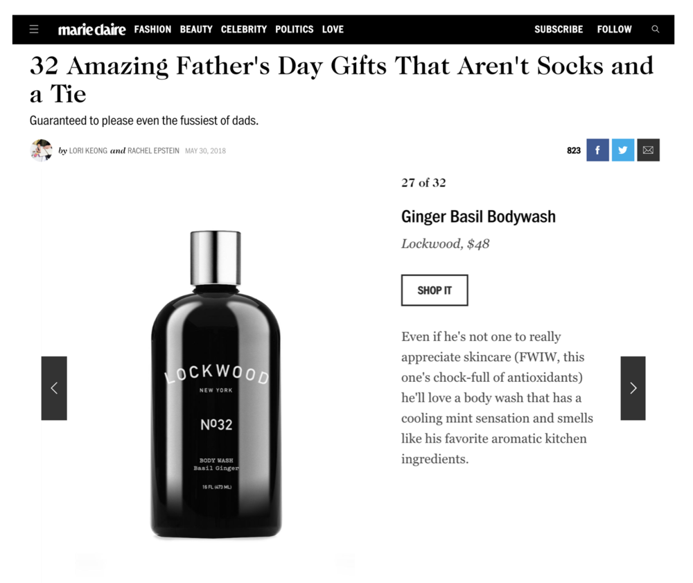 MARIE CLAIRE: 2018 FaTHER's DAY GIFT GUIDE