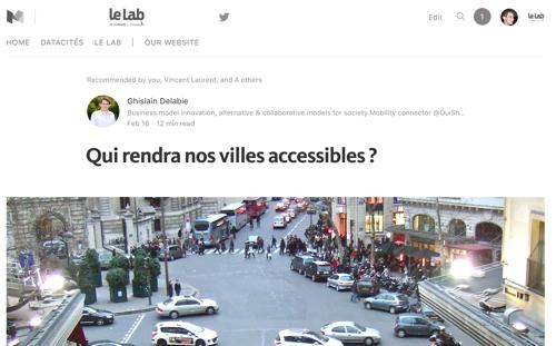 Qui rendra nos villes accessibles ? - Ghislain Delabie nous présente le projet OpenSideWalks qui illustre quelques-uns des enjeux de la donnée pour la ville intelligente.