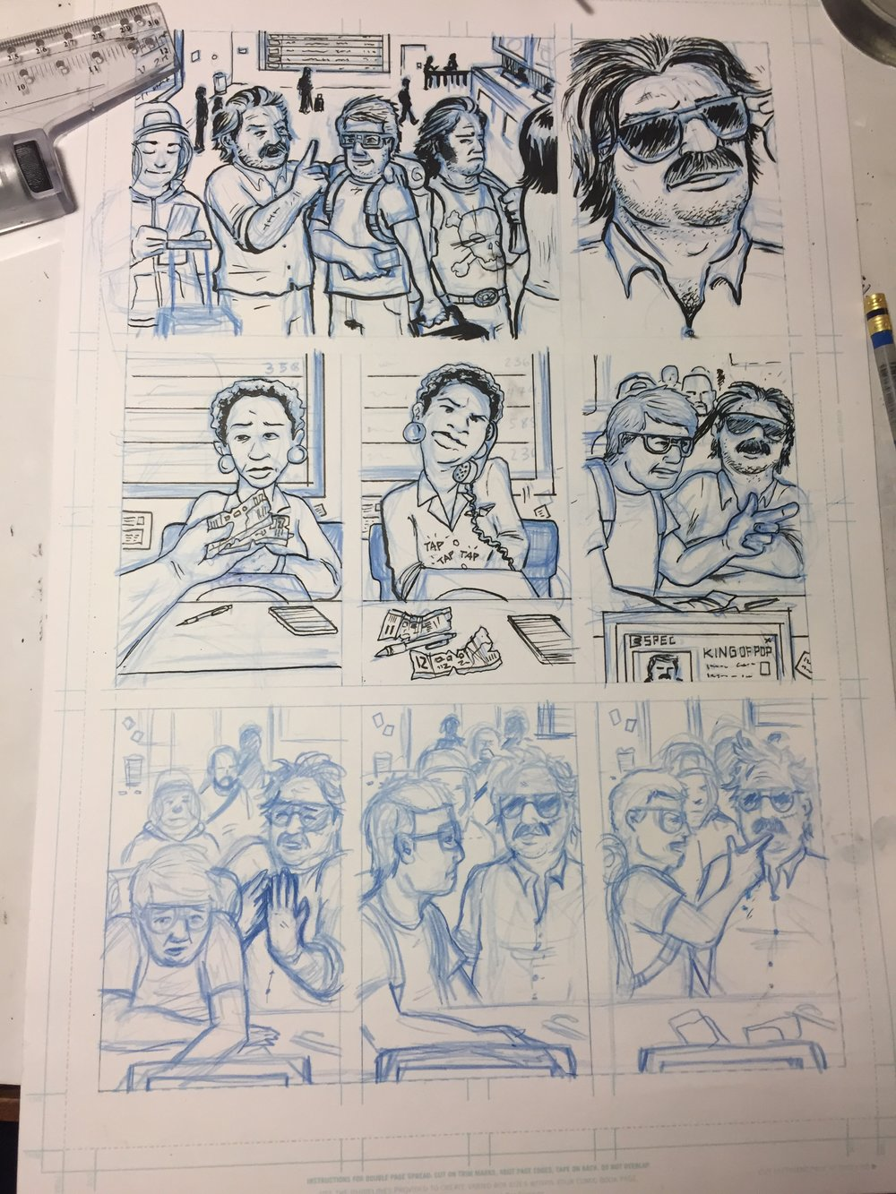 king of pop #2 page in progress