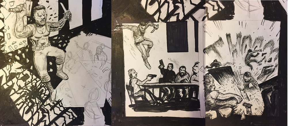 In progress page of The Ballad of Cyborg Dan