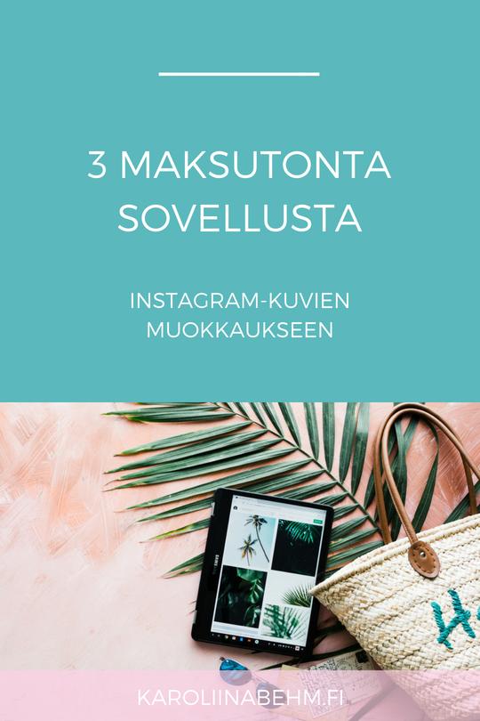 3 maksutonta sovellusta Instagram-kuvien muokkaukseen