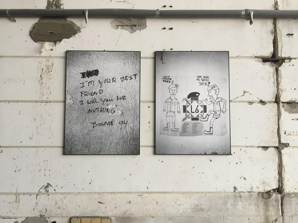 Photographs of graffiti found in Srebrenica