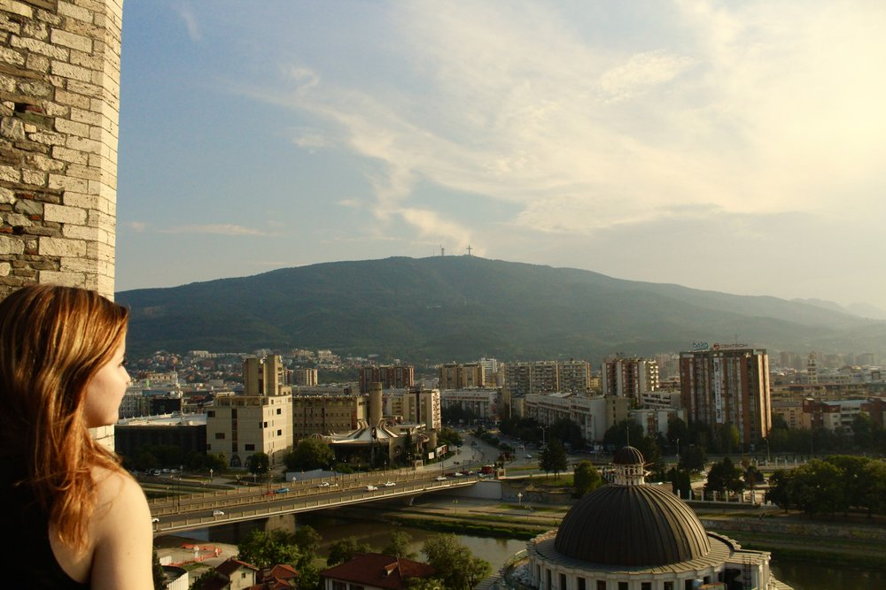 View from the Kale Fortress in Skopje, Macedonia