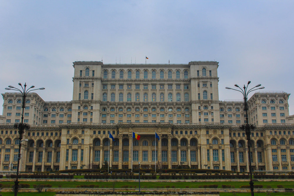 The Palace of Romanian Parliament, built during communism, is the largest government building in Europe and second largest in the world, behind only the Pentegon in Washington, D.C.