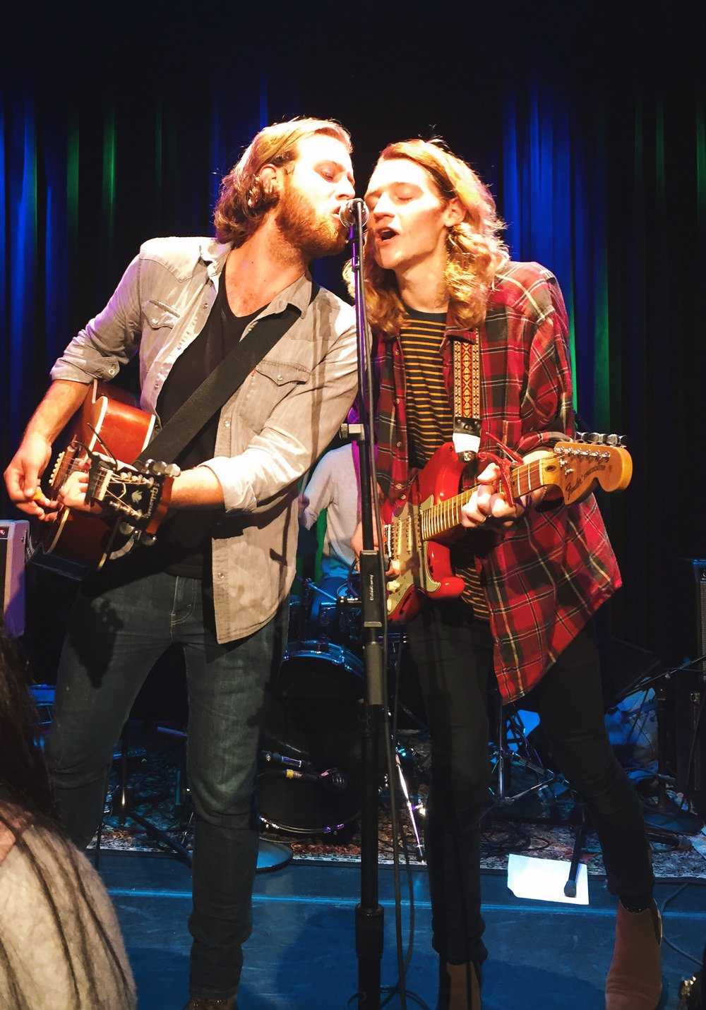 Nick Santino and Carter Hulsey performing in Boston in November 2016. Nick, a Boston native, has been a huge influence on my attitude toward the city
