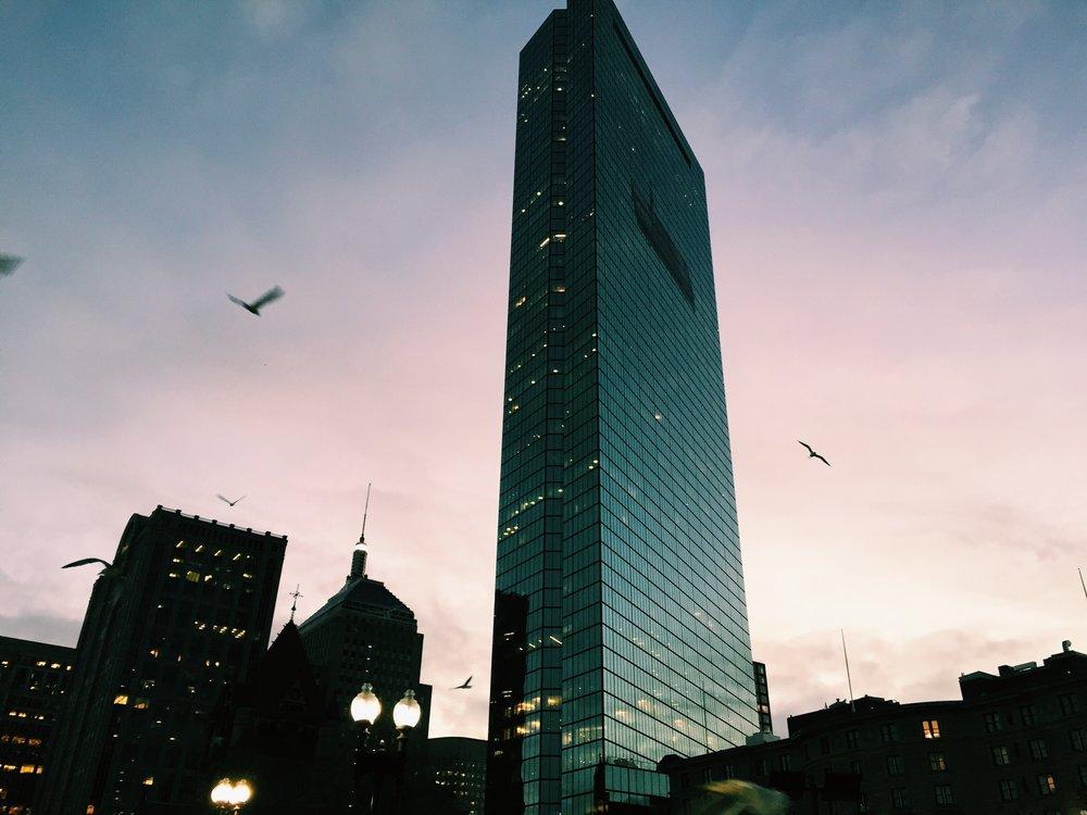 Copley Square, Boston 5:49 am on December 16, 2016