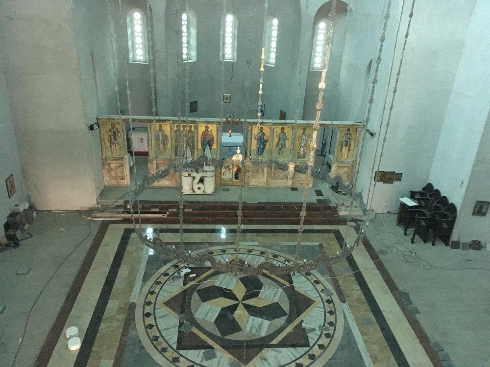 Inside Temple Sveta Tri Jerarha