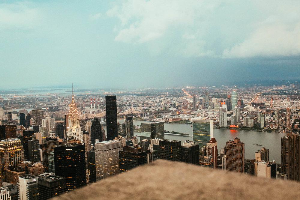 View of Midtown: Chrysler Building, UN Headquarters