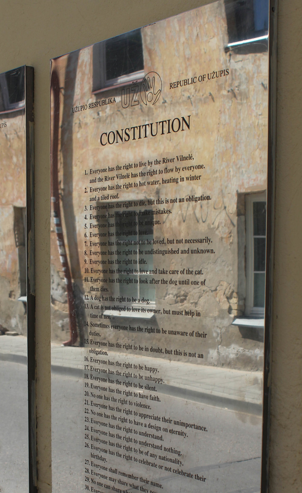 The Constitution of the Republic of Uzupis