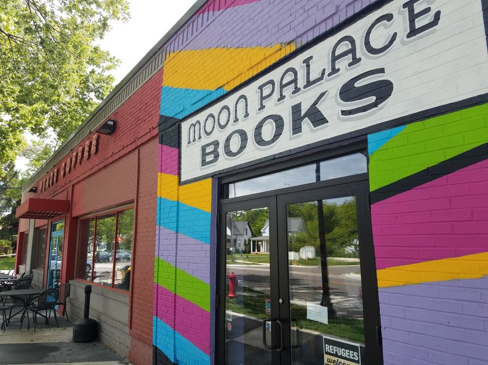 Moon City Books is right next door to Peace Coffee in Minneapolis. Head there for some great reads and specialty coffee drinks.