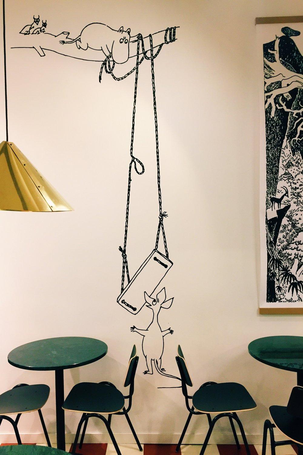 A third floor cafe