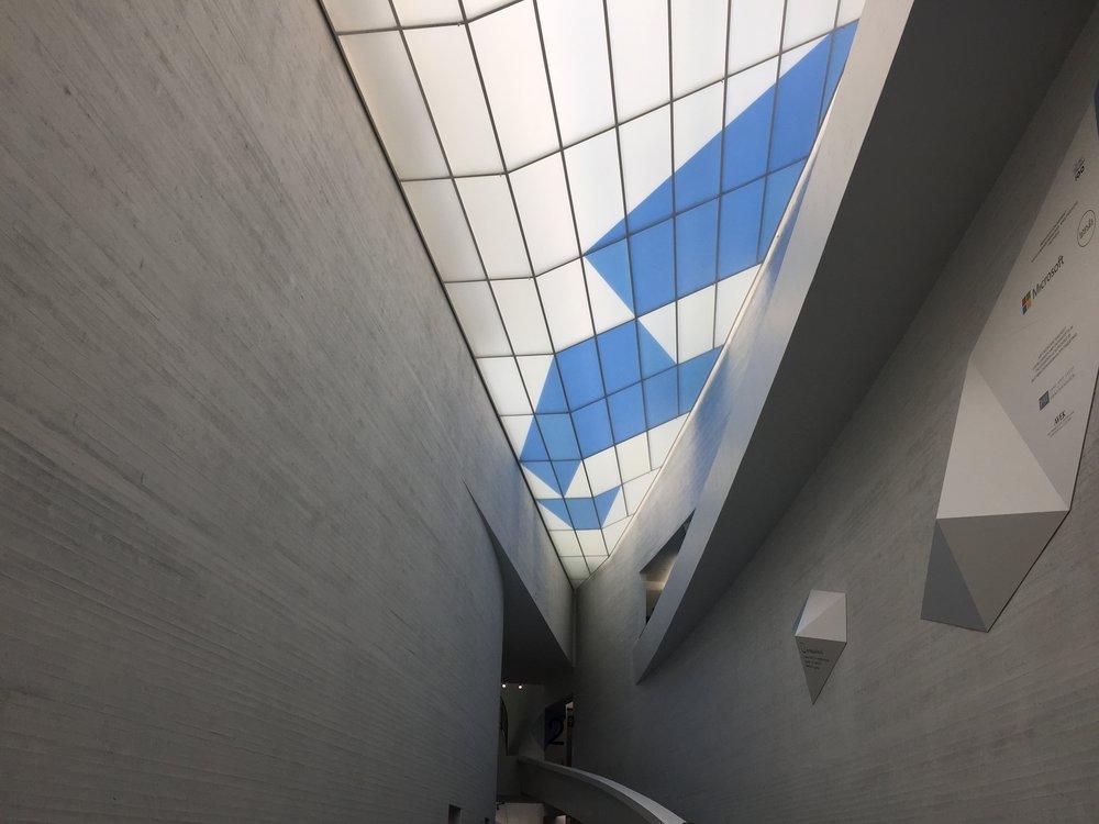 The museum's atrium