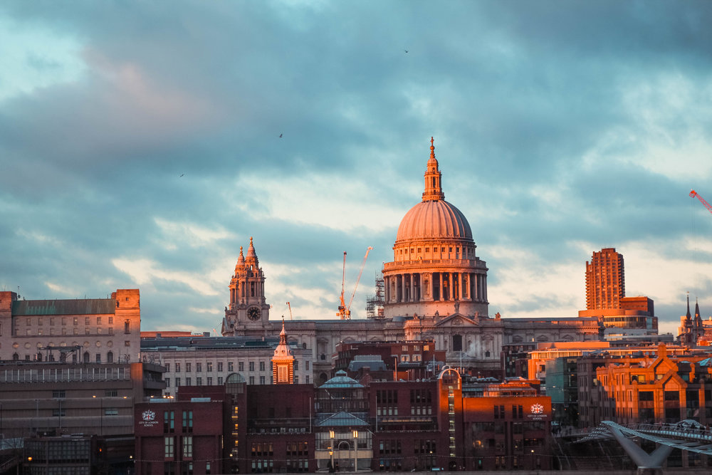 a view of St Paul's from Tate Modern