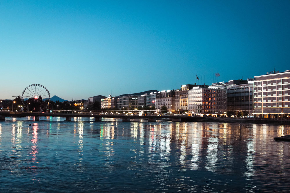 Geneva, just before Sunrise