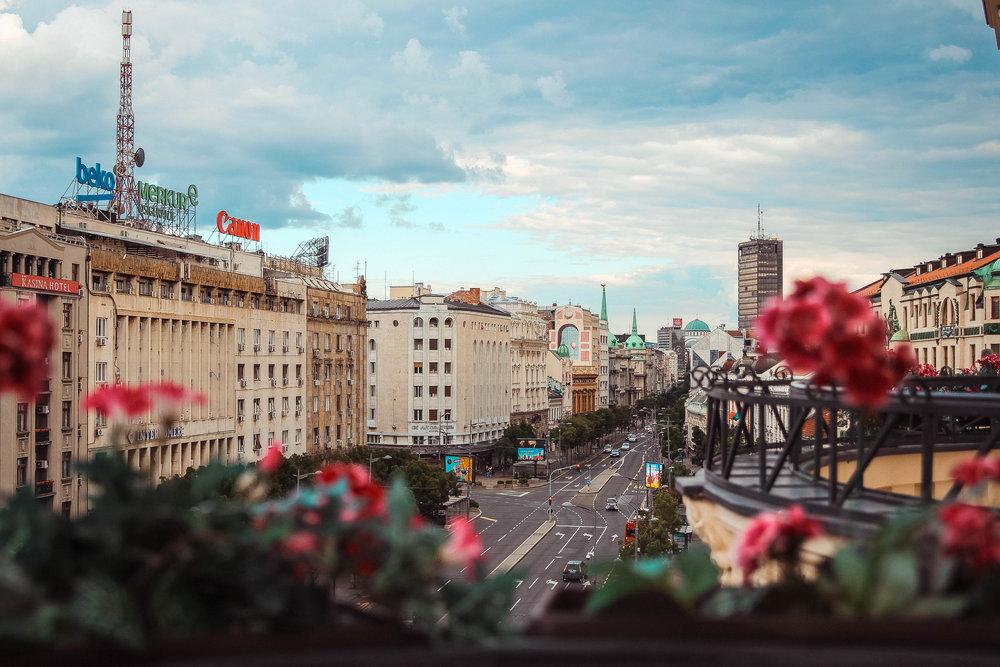 Belgrade from a Terazije Balcony