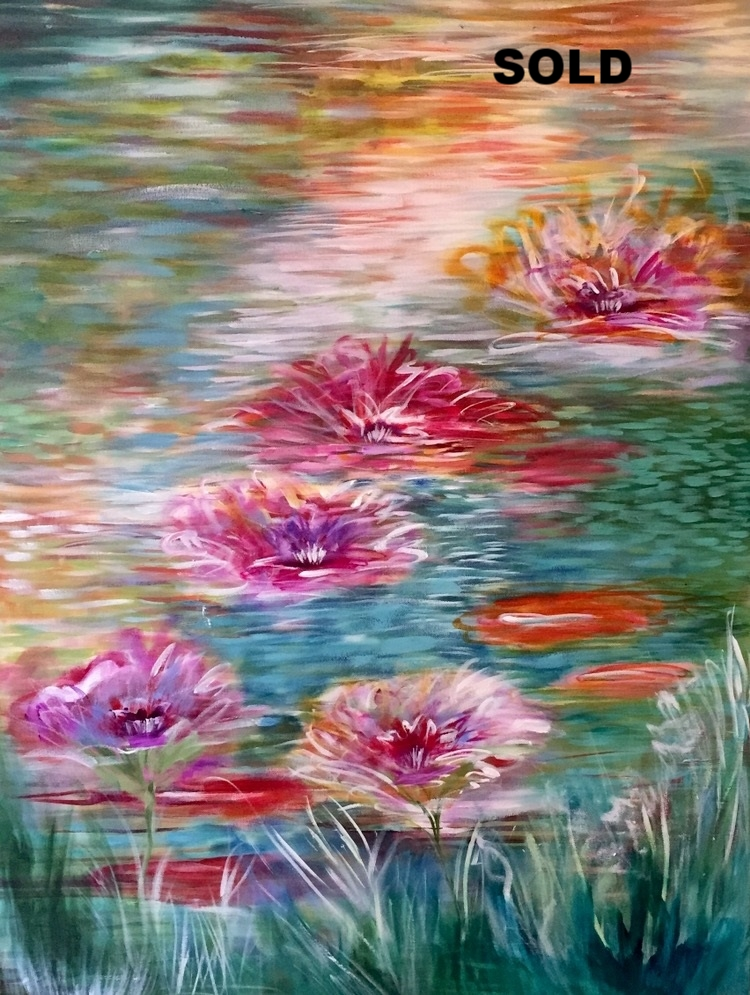 Water Lillies  30 x40  $1200