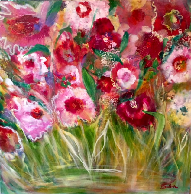 Wild Flowers    36 x 36    $1050