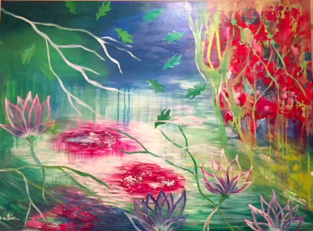 Lotus Pond    36 x 48    $1400
