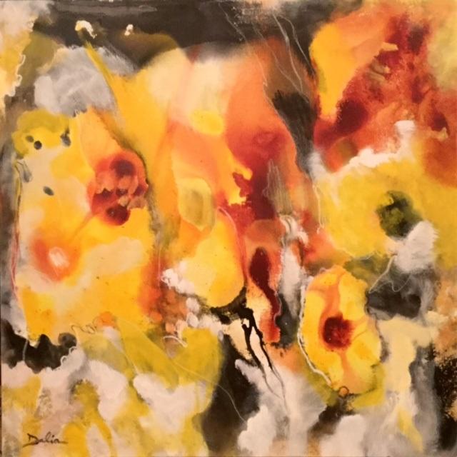 Yellow Flowers    36 x 36    $1,050