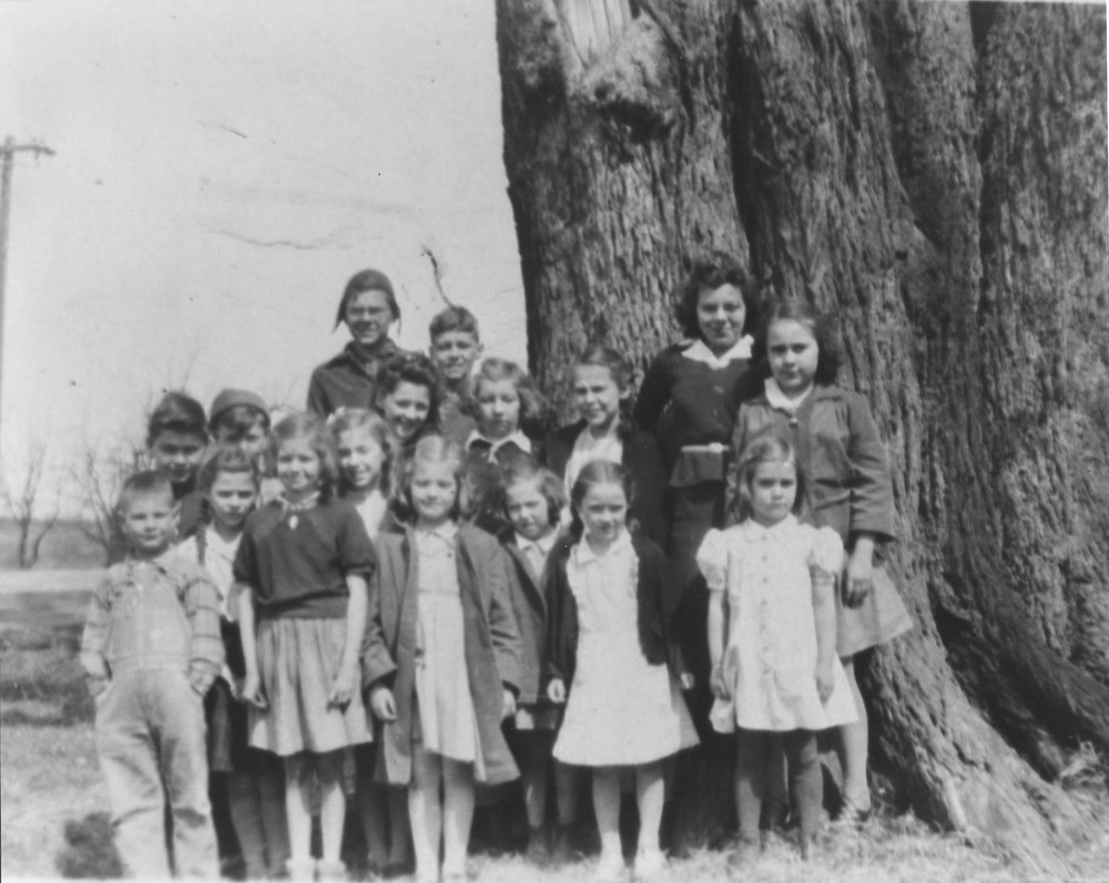 Class Picture with elm tree 1942-43.jpg