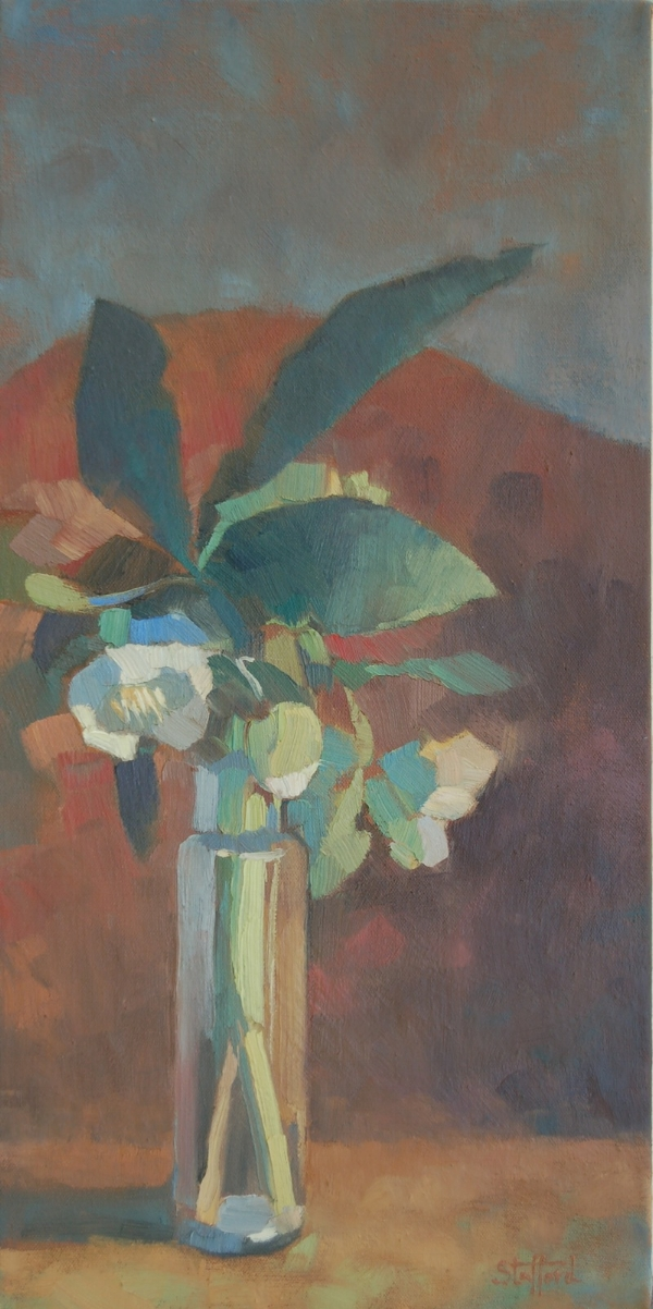 Lenton Rose, 10x20, oil on canvas