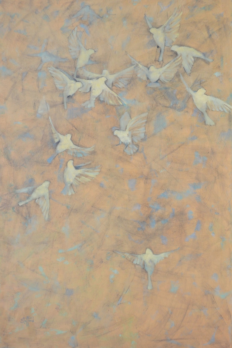 Birds I, 48x72, oil on canvas (sold)
