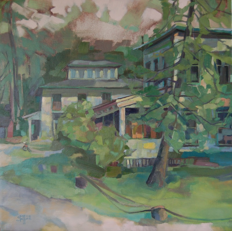 """Shriver's Inn"" oil on canvas, 30x30 (sold)"