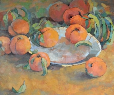 Peaches II, 20x24, oil on canvas (sold)