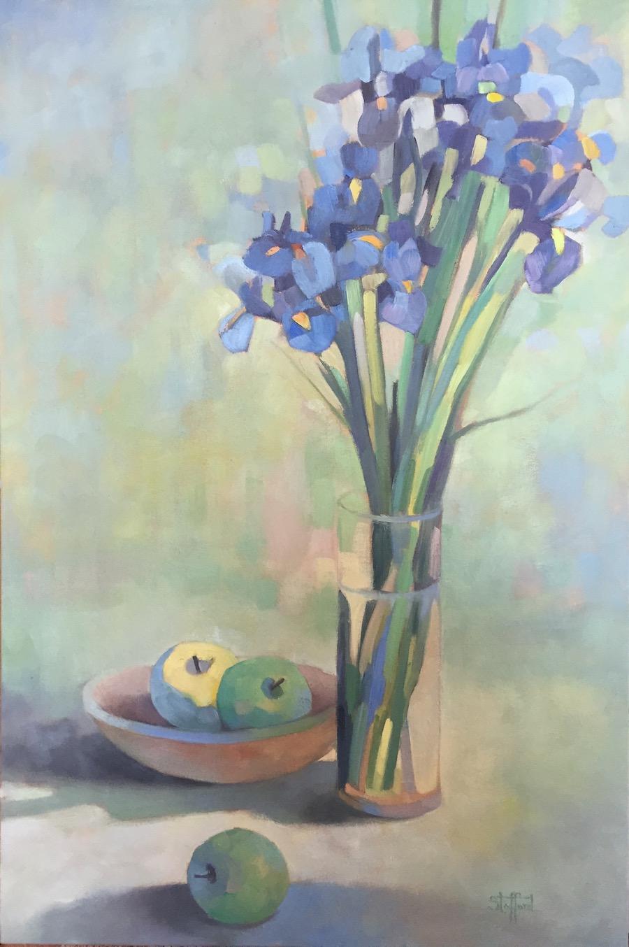 Siberian Iris, 24x36, oil on canvas