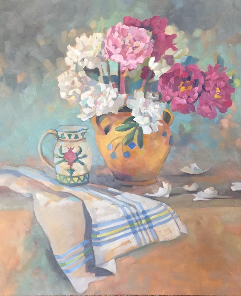 Peonies, 30x36, oil on canvas