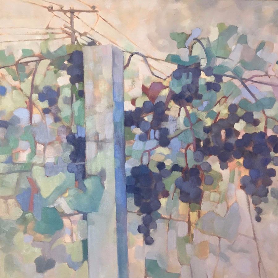Vineyard Grapes, 30x30, oil on canvas