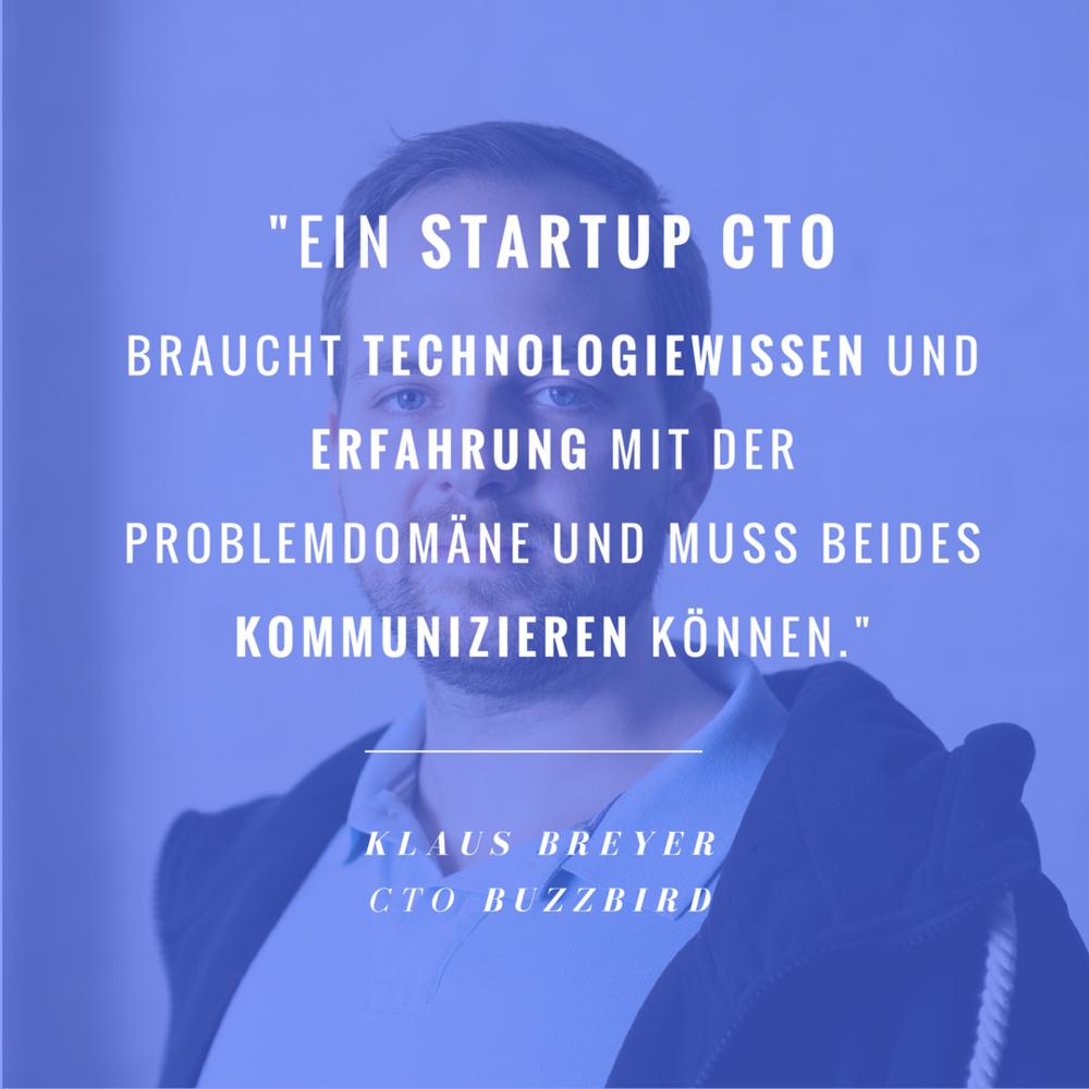 BuzzBird CTO Klaus Breyer im Blog: Was macht eigentlich ein Startup CTO?