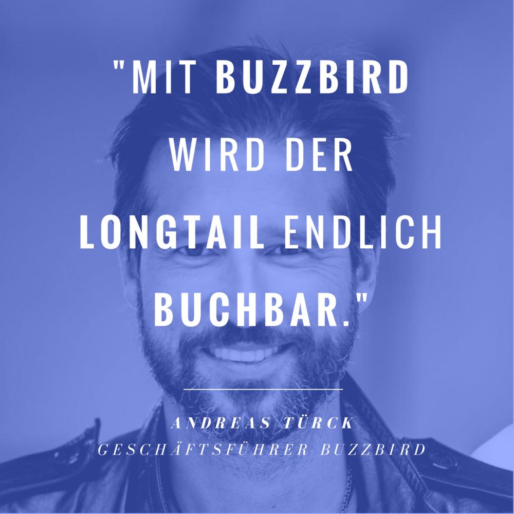 Der Longtail wird endlich buchbar!    BuzzBird-Geschäftsführer  Andreas Türck