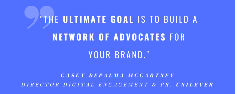 Casey DePalma McCartney  (Director Digital Engagement & PR bei  Unilever ) bei ' Inside Influencer Marketing ' am 18. Juli in New York