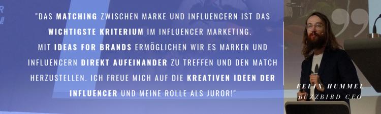 Felix Hummel über seine Juroren-Tätigkeit bei IDEAS FOR BRANDS