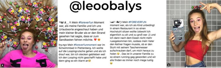 Die Kampagnen-Postings von @leoobalys stießen bei den Fans auf Begeisterung